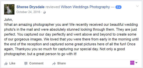 Facebook Review Gympie Wedding photographer01